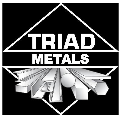 Triad Metals Logo White