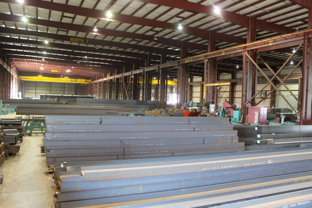 Triad Metals Beams Stacked Warehouse