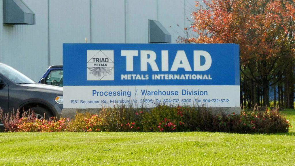 Triad Metals Petersburg Sign