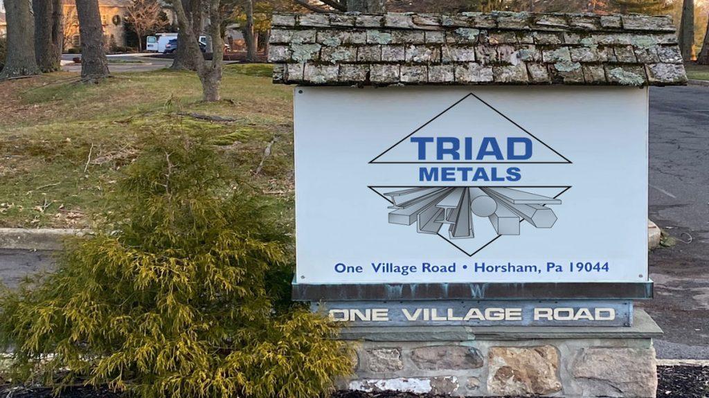 Triad Metals Philadelphia Sign