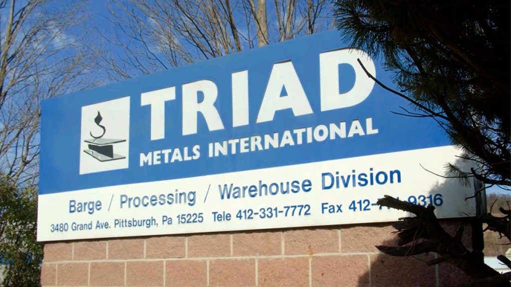 Triad Metals Pittsburgh Sign